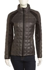 Laundry By Shelli Segal Quilted Jacket with Tech Insets Greenblack - Lyst