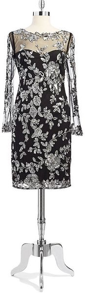 Patra Lace Dress with Floral Sequins - Lyst