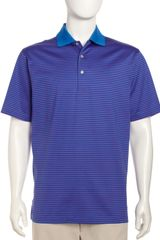 Peter Millar Striped Cotton Polo Purpleblue - Lyst