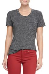 Rag & Bone Heathered Pocket Tee Charcoal Gray - Lyst