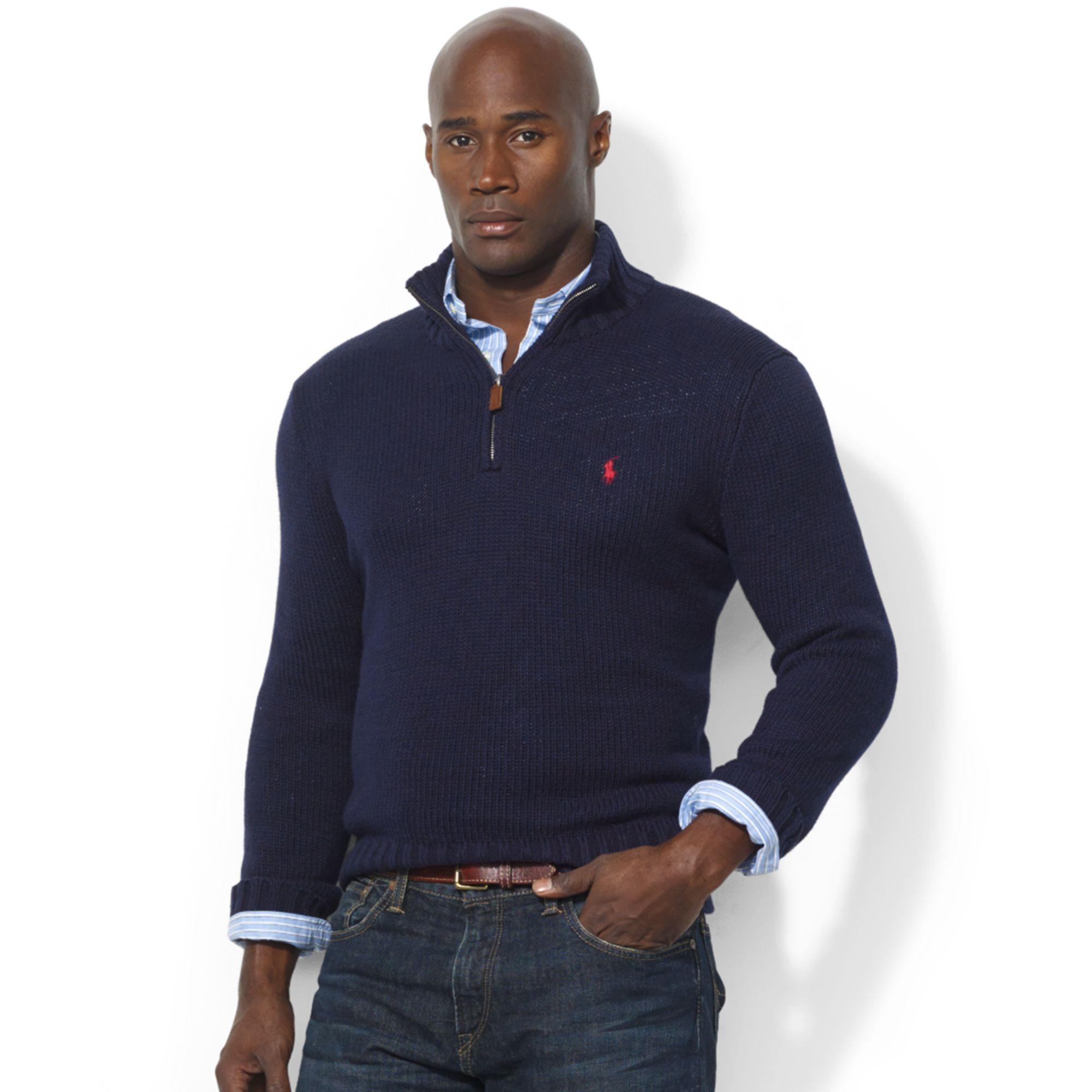 Mens Get Ralph Half Dbb42 5da85 Polo Pullover Zip Lauren Sweater BtChQrdsxo