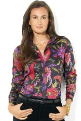 Ralph Lauren Long Sleeve Floral Shirt - Lyst