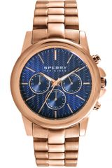 Sperry Top-sider Womens Chronograph Halyard Rose Gold Ion Plated Stainless Steel Bracelet 42mm - Lyst