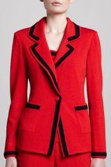 St. John Collection Santana Boyfriend Blazer - Lyst