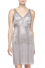 Sue Wong Sleeveless Beaded Cocktail Dress - Lyst