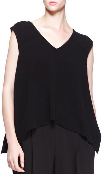 The Row Cashmere Cap Sleeve Trapeze Top - Lyst