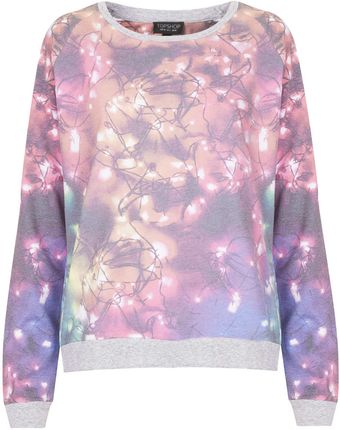 Topshop Fairy Lights Loungewear Top - Lyst