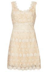 Topshop Crochet Aline Dress - Lyst