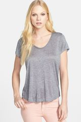Vince Scoop Neck Tee - Lyst