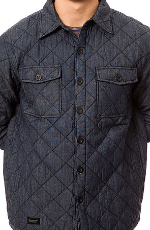 Lyst Wesc The Quilted Shirt Jacket In Blue For Men