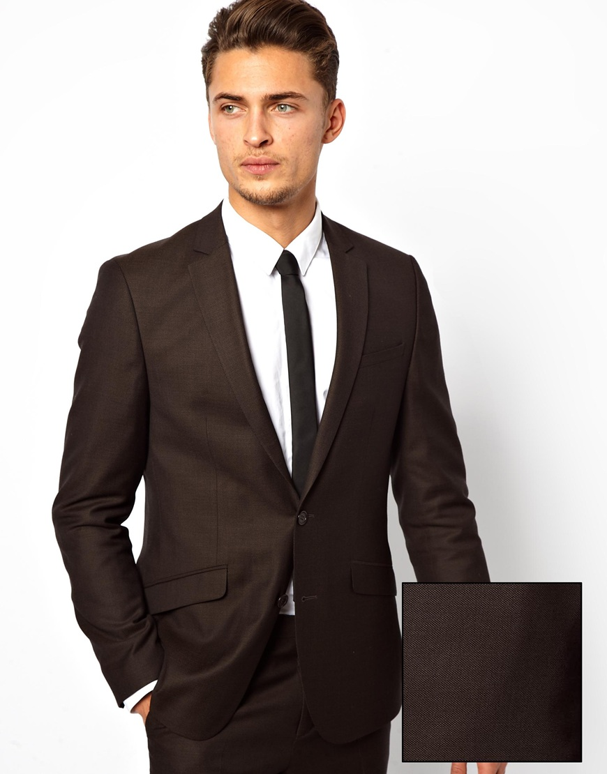 Asos Slim Fit Suit Jacket In Window Pane Check in Gray for Men | Lyst