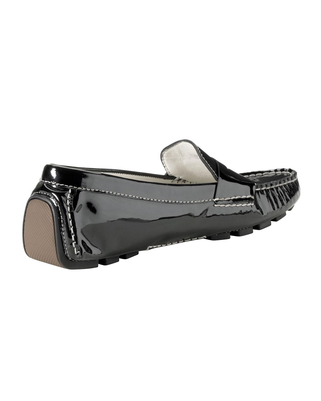 35c48ac1382 Lyst - Cole Haan Air Sadie Patent Leather Driver Black in Black