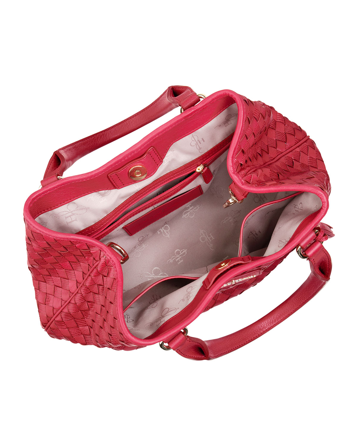 98148f0d7f Cole Haan Nora Woven Serena Tote Bag Red in Red - Lyst