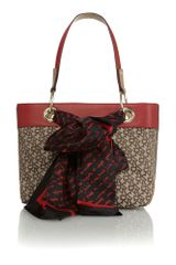 DKNY Multi Small Patent Scarf Tote Bag - Lyst
