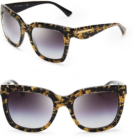 Dolce & Gabbana Dna Wayfarer Sunglasses in Brown (Leaf ...