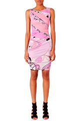 Emilio Pucci Sleeveless Print Dress Tragara Pink - Lyst