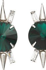 Fallon Crystal Spike Drop Earrings - Lyst