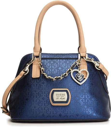 Guess Guess Handbag Margeaux Amour Dome Satchel in Blue (Sapphire)