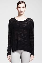 Helmut Helmut Lang Destroyed Boucle Pullover Sweater - Lyst
