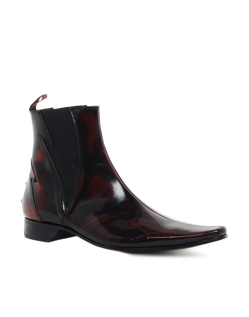 jeffery west lightning chelsea boots in for lyst