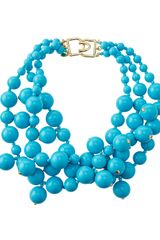 Kenneth Jay Lane Beaded Cluster Necklace Turquoise - Lyst