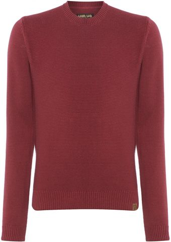 Label Lab Textured Crew Neck Jumper - Lyst