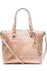 Michael by Michael Kors Jet Set Metallic Multifunction Satchel - Lyst