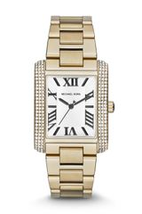 Michael Kors Midsize Golden Stainless Steel Emery Threehand Glitz Watch - Lyst