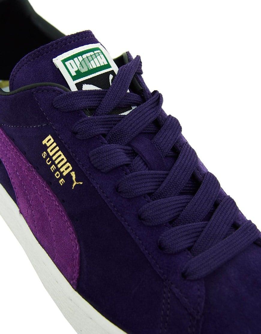 Lyst Puma Suede Sneakers In Purple For Men