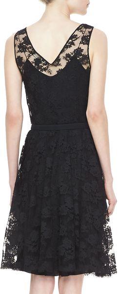 Ralph Lauren Black Label Rhys Belted Lace Dress Black In