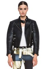 Acne Moi Leather Jacket - Lyst