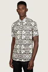Alexander McQueen Mens Stained Glass Print Short Sleeve Shirt - Lyst