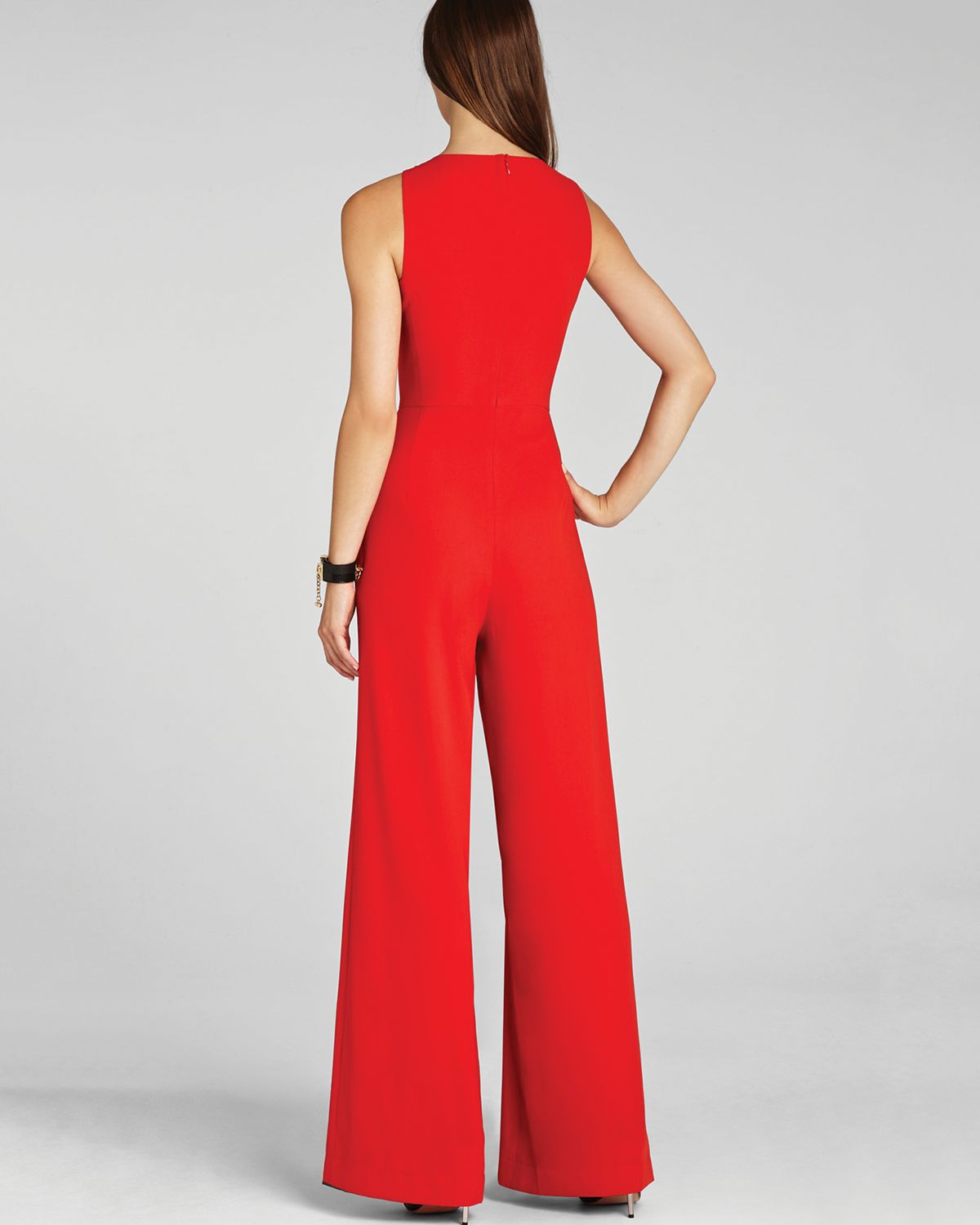 Bcbgmaxazria Jumpsuit Helena Sleeveless in Red | Lyst