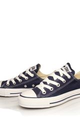 Converse Navy Chuck Taylor All Star Low Trainers - Lyst