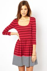 French Connection Stripe Skater Dress - Lyst