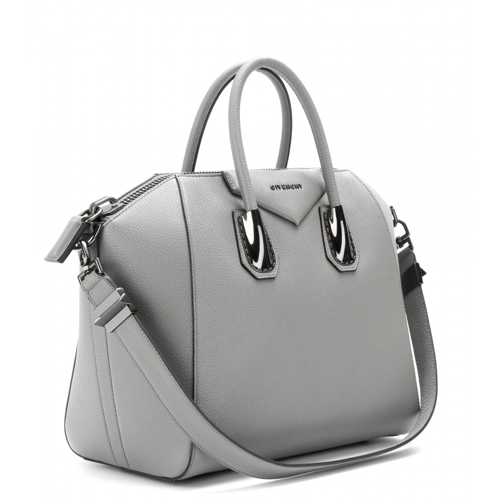 lyst givenchy antigona medium leather tote in gray. Black Bedroom Furniture Sets. Home Design Ideas