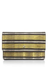Givenchy Podium Clutch in Yellow and Offwhite Printed Watersnake - Lyst