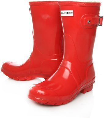 Hunter Red Original Gloss Short Wellington Boots - Lyst