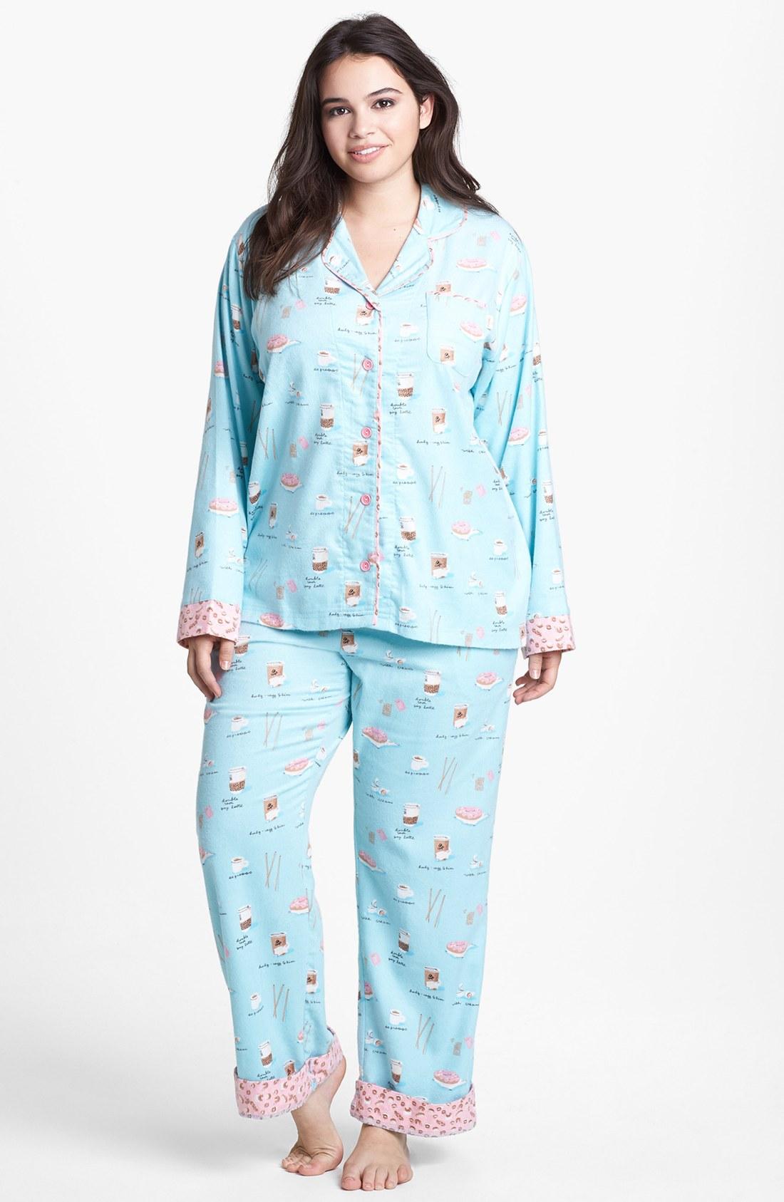 Munki Munki Print Flannel Pajamas In Blue Blue Coffee Lyst