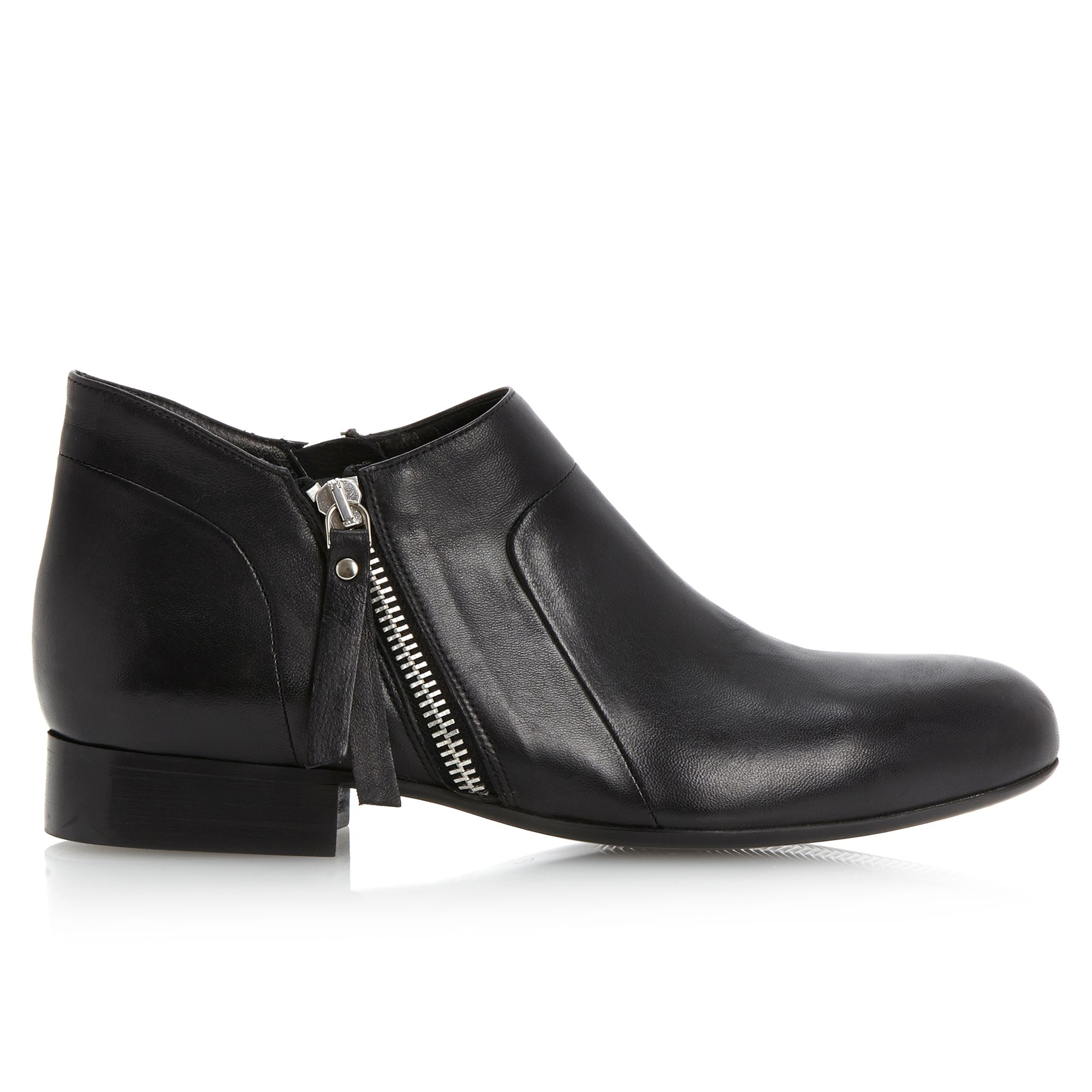 Pied A Terre Pringlep Cropped Side Zip Shoe Boots In Black