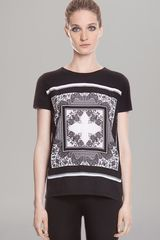 Sandro Top Printed Short Sleeve - Lyst