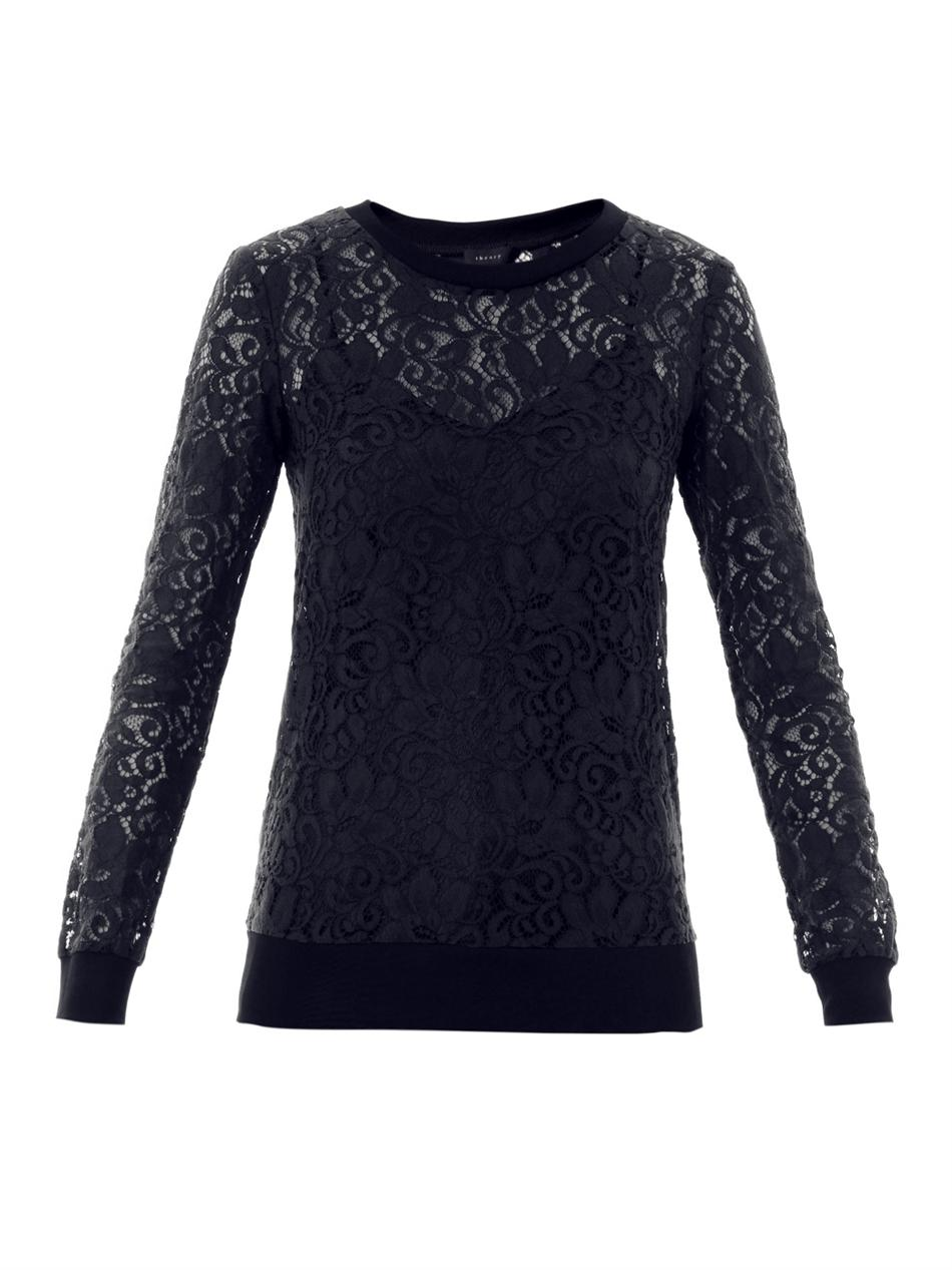 Lyst Theory Jaidyn Lace Top In Blue