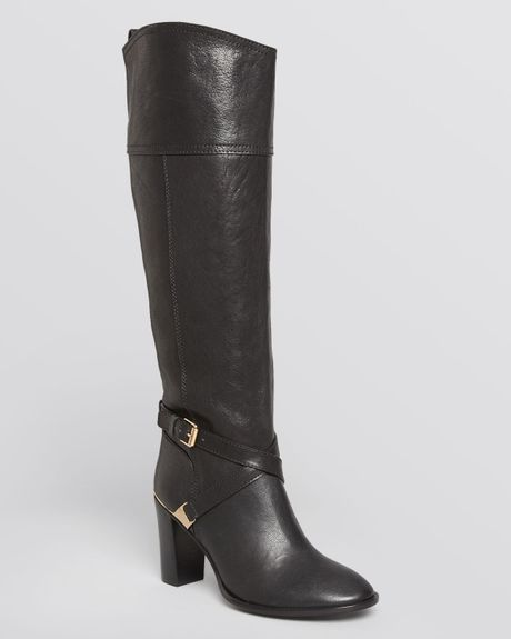 Tory Burch Riding Boots Livingston High Heel In Black Lyst