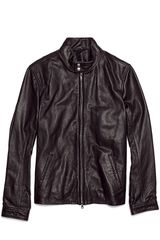 Vince Harrington Leather Motorcycle Jacket - Lyst