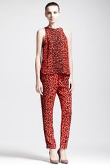 A.L.C. Thompson Silk Leopard Pants - Lyst