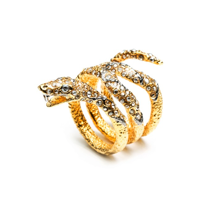 Alexis bittar jardin de papillon gold snake ring in gold for Alexis bittar jardin de papillon