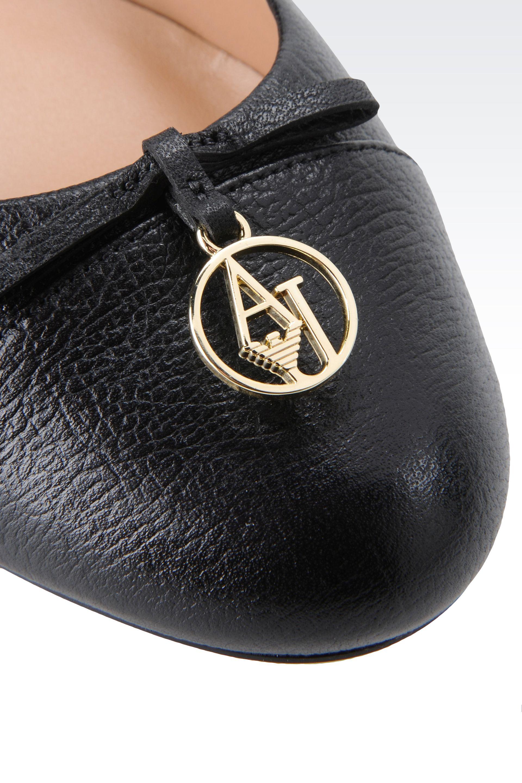 Lyst Armani Jeans Ballet Flats In Black