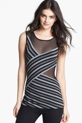 Bailey 44 Deep Space Mesh Inset Stripe Tank - Lyst