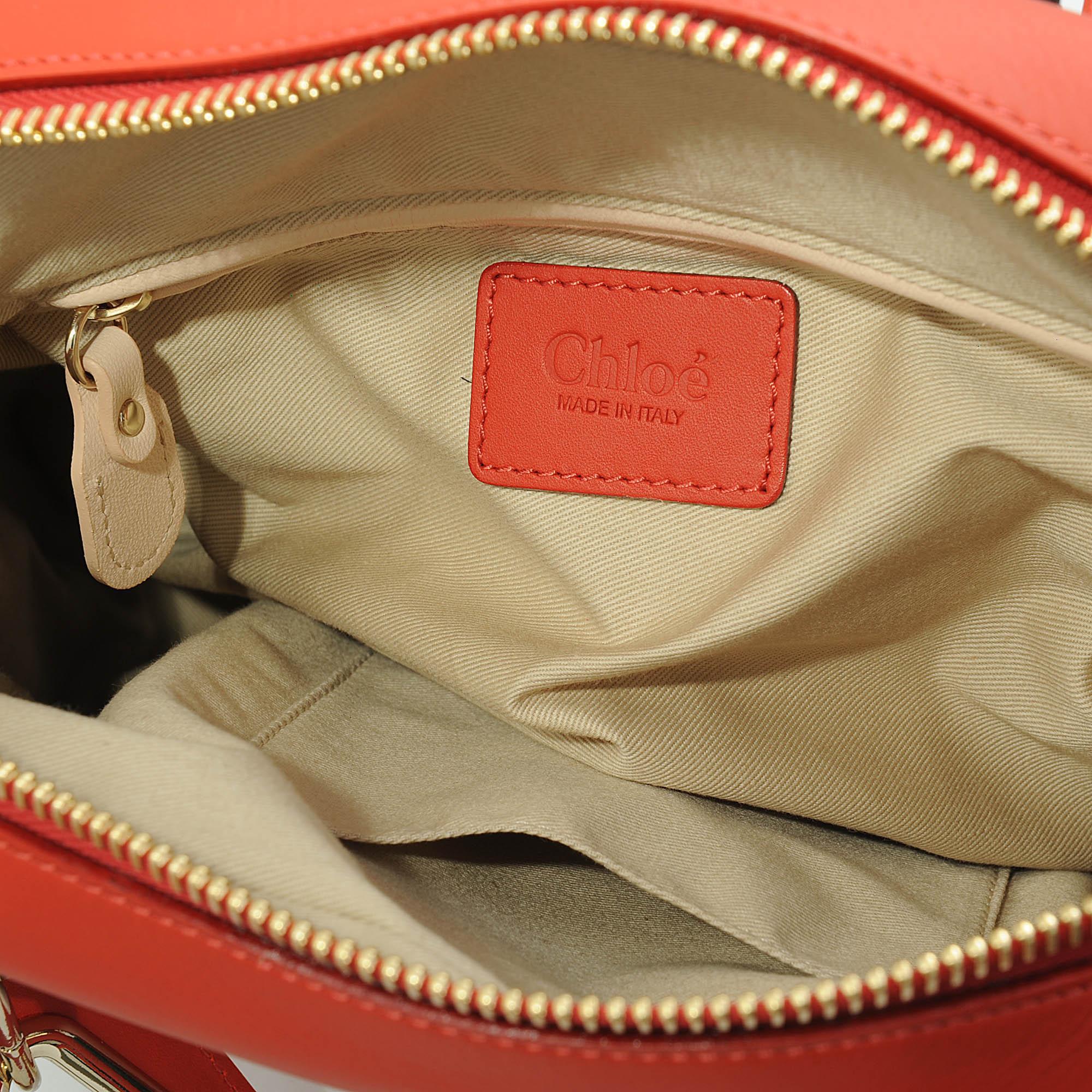 Chlo¨¦ Medium Paraty Metallic Bag in Red | Lyst