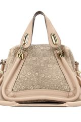 Chloé Paraty Medium Snake Print Leather Tote - Lyst